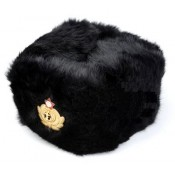 Soviet / USSR / CCCP Navy Officer's Black Winter Fur Hat, Ushanka